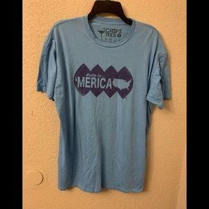 """Other - Men's blue """"only in 'merica"""" Chice T-shirt"""